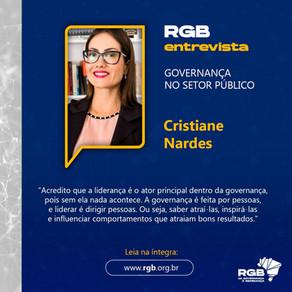 """""""Acredito que a liderança é o ator principal dentro da governança"""", diz Cristiane Nardes"""