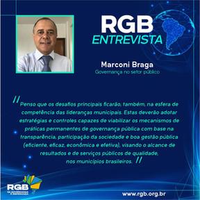 Marconi Braga propõe viabilizar os mecanismos de práticas permanentes  de governança pública