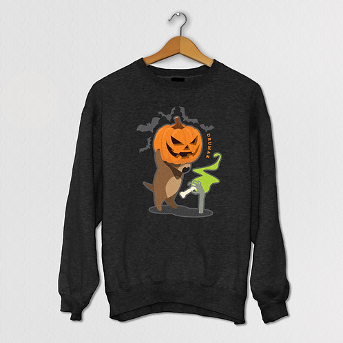 Стич отмечает Halloween! Вышивка светится в ультрафиолете!