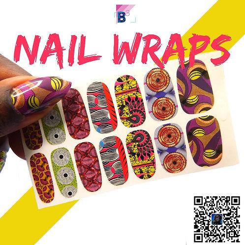 Ankara Nail Wraps