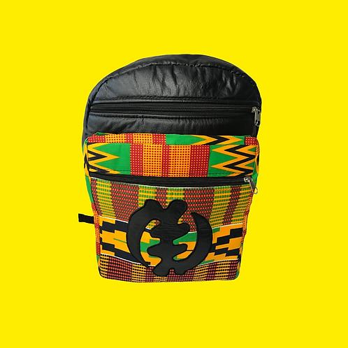Leather & Ankara Backpacks