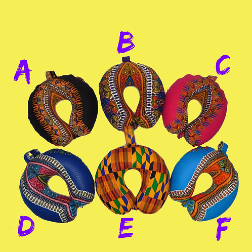 Ankara Neck Pillow Covers