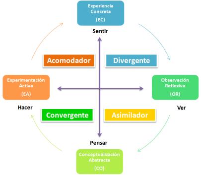 Liderazgo y Estilos de Aprendizaje (Kolb)