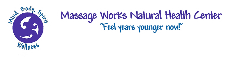 Massage Works Natural Health Center Mind, Body, Spirit, Wellness logo