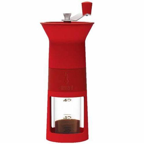 מטחנה קפה ידנית בצבע אדום | BIALETTI