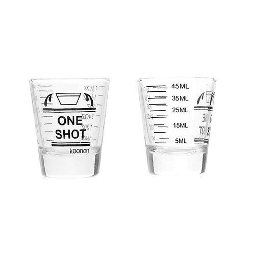 """כוס מדידה מזכוכית - עד 45 מ""""ל"""
