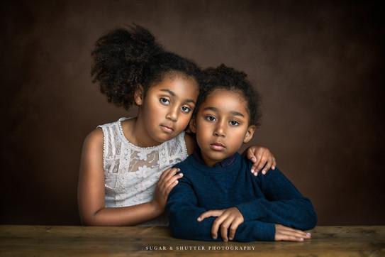 studio photography family portrait children