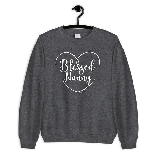 Blessed Nanny Heart Sweatshirt