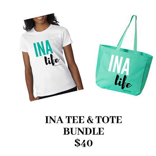 INA T-shirt and Tote Bundle