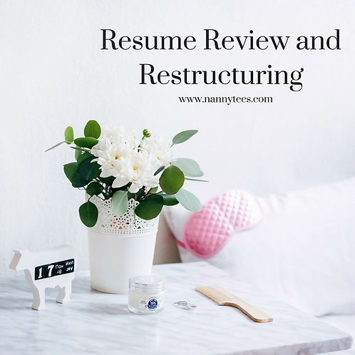 Resume Review and Restructuring