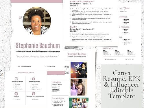 Canva Resume/EPK Editable Template