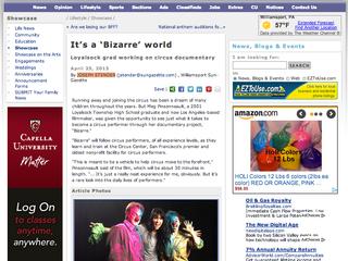 Bizarre Featured in Williamsport Sun-Gazette!