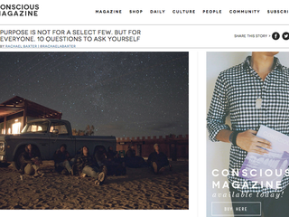 Featured on Conscious Magazine!