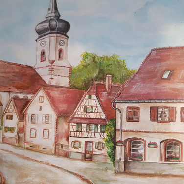 Dorf im Elsass