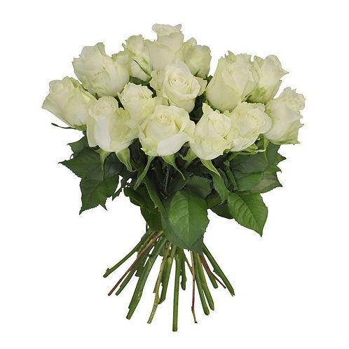 Bouquet brassée de roses blanches