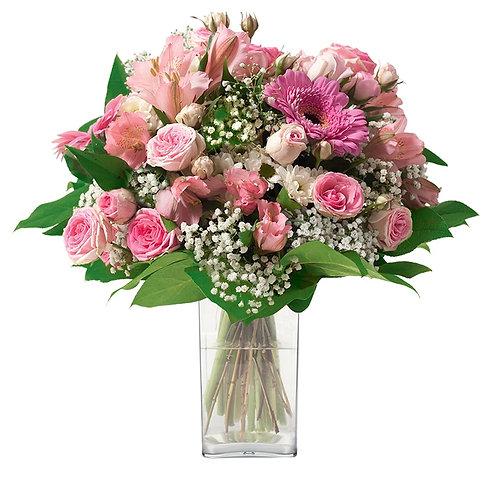 Bouquet pastel profond