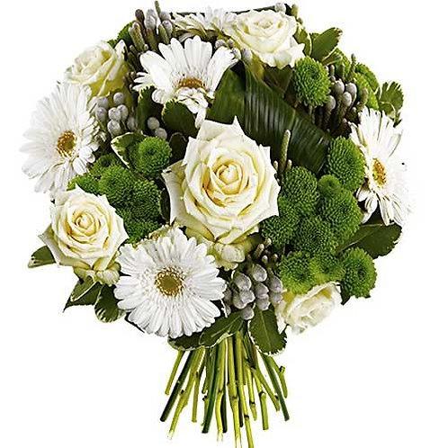 Bouquet bulle blanc intense