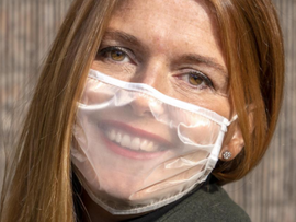RAC1 hace noticia las mascarillas transparentes de Probex