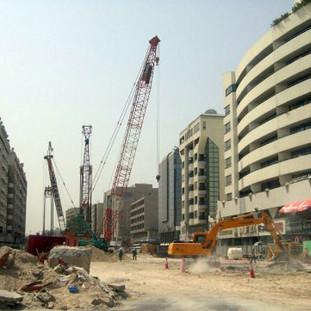 Dubai Metro project - Green Line - Dubai / UAE