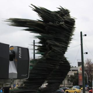 Dromeas - The Runner Man Glass Sculpture