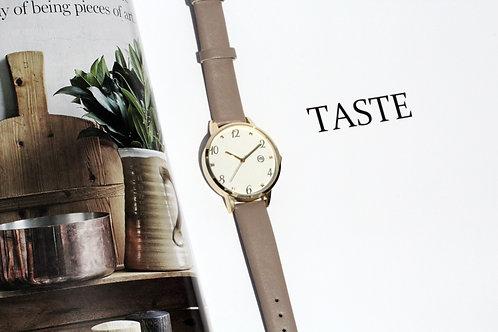 玫瑰金錶面女裝腕錶