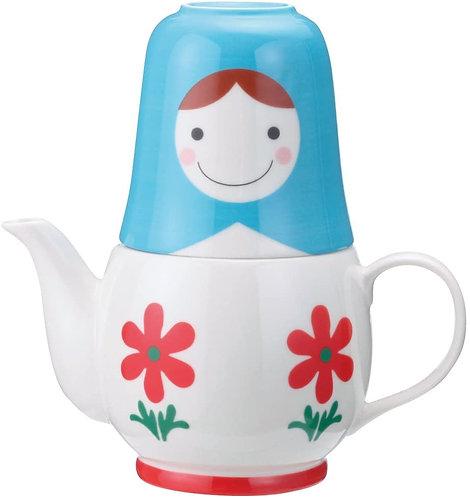 無限俄羅斯娃娃茶壺連茶杯