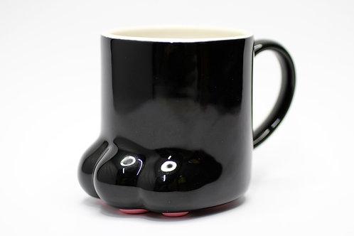 黑貓貓粉紅肉球杯