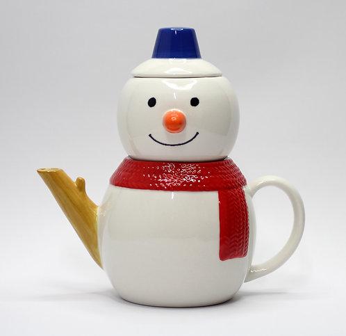 雪人雖很凍但也能泡熱茶茶壺套裝