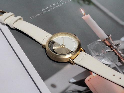 不對稱時尚半鏤空女裝腕錶