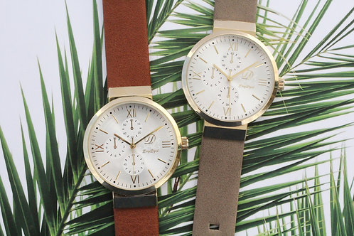 典雅金時圈女裝腕錶