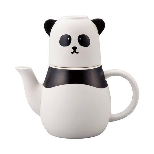 熊貓頭茶壺連水杯