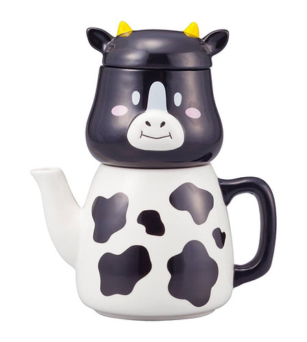 不是只有牛奶也可沖茶牛牛茶壺連水杯