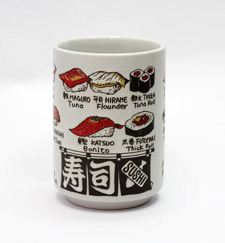 -日本製-壽司圖鑑湯のみ杯