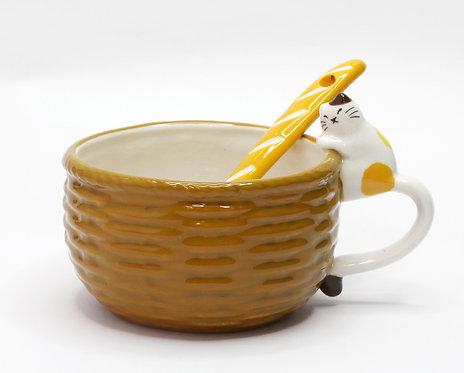 可惡想跳進藤籃的三色喵緣子杯(連羹)