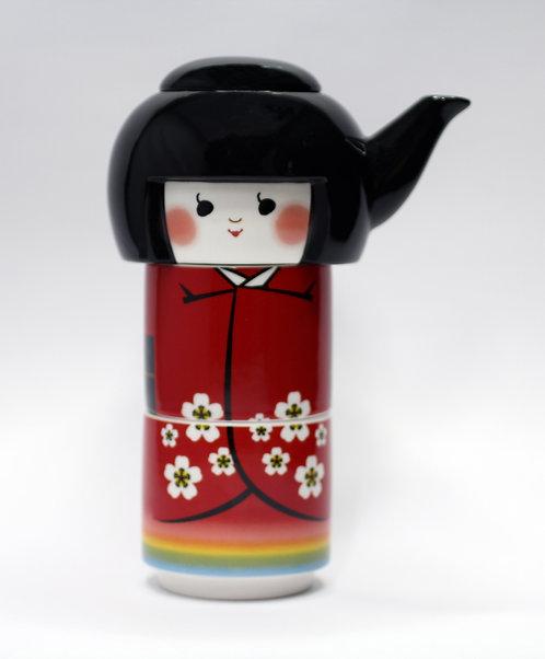 日本娃娃茶壺套裝