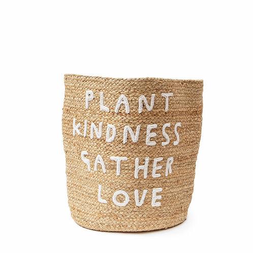 Plant Kindness Jute Basket