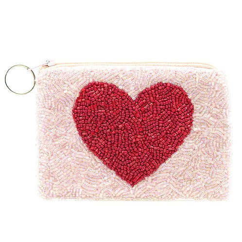 Red Heart on Pink Purse