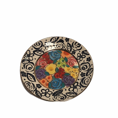 Dinner Plate With Flowers