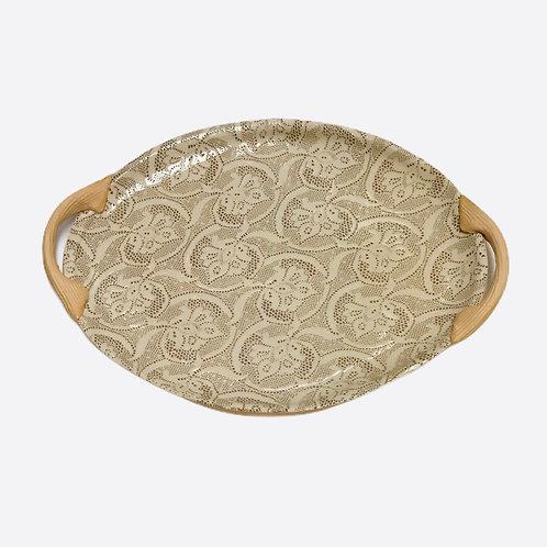 Small Oval Platter In Mocha