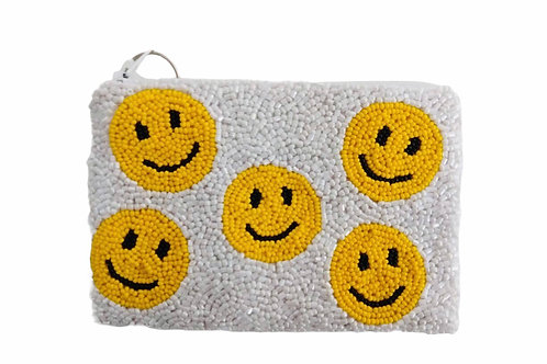 Smiley Beaded Purse