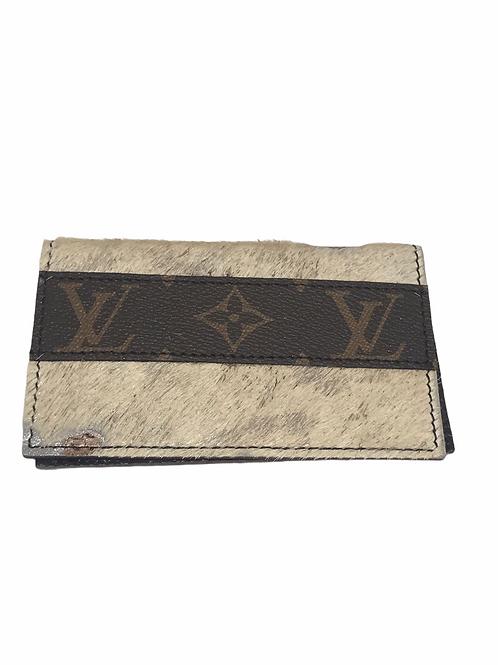 Upcycled  LV Card Holder