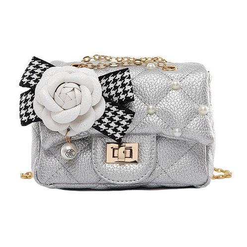 Flower Pearl Bag (Silver)