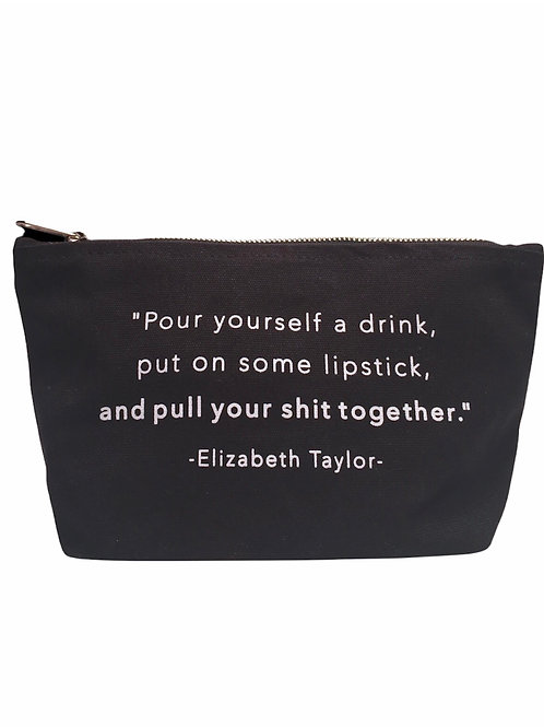 """""""Pour yourself a drink and put on lipstick...""""Black Po"""