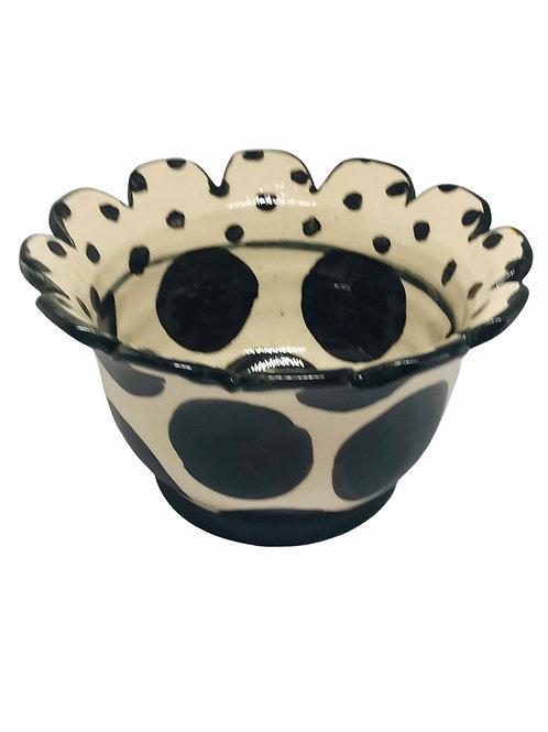 Black and White Polka Dot Bowl