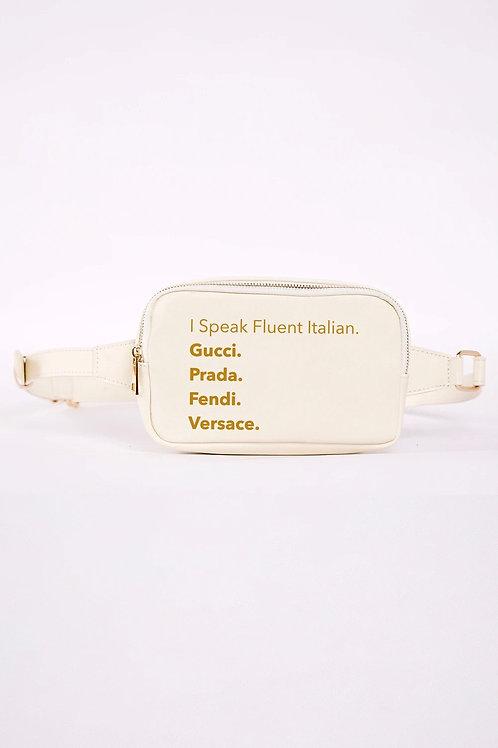 Fluent Italian Fanny Pack- White