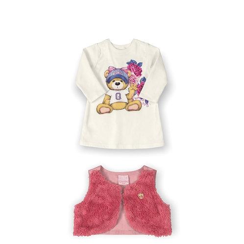 Dress and Vest Pink