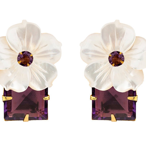 Amethyst and Mother of Pearl Earrings