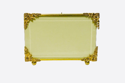 4x6 Brass Frame With Grapes