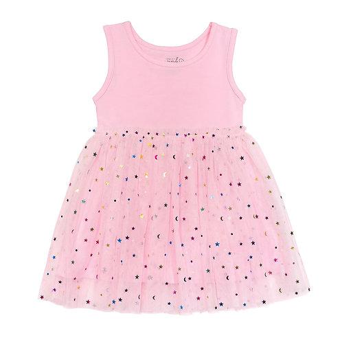 Pink Sequin Dress Sleevless