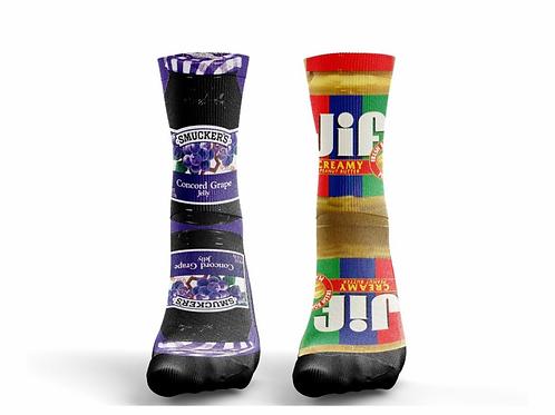 "Socks ""Peanut Butter/Jelly"""